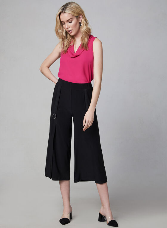 Compli K - Jupe-culotte à détails anneaux, Noir, hi-res