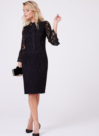 Maggy London - Lace Sheath Dress, Black, hi-res