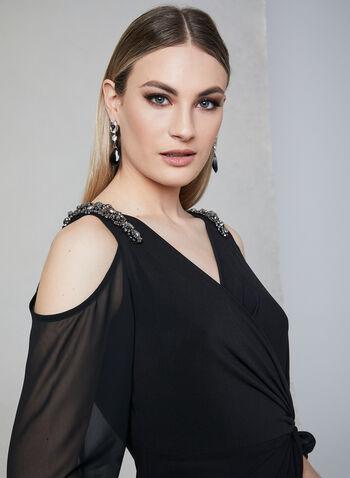 Alex Evenings - Robe longue à appliqués en cristaux, Noir, hi-res