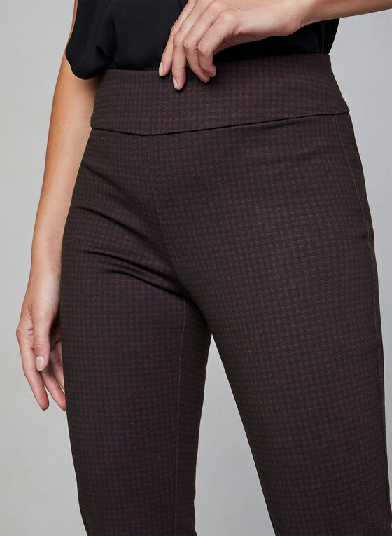 Pantalon coupe Madison motif pied-de-poule, Noir