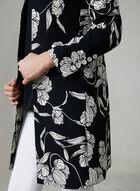 Floral Print Redingote, Black, hi-res