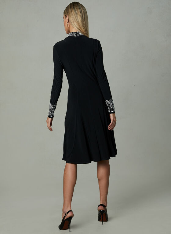 Frank Lyman - Mock Neck Dress, Black, hi-res