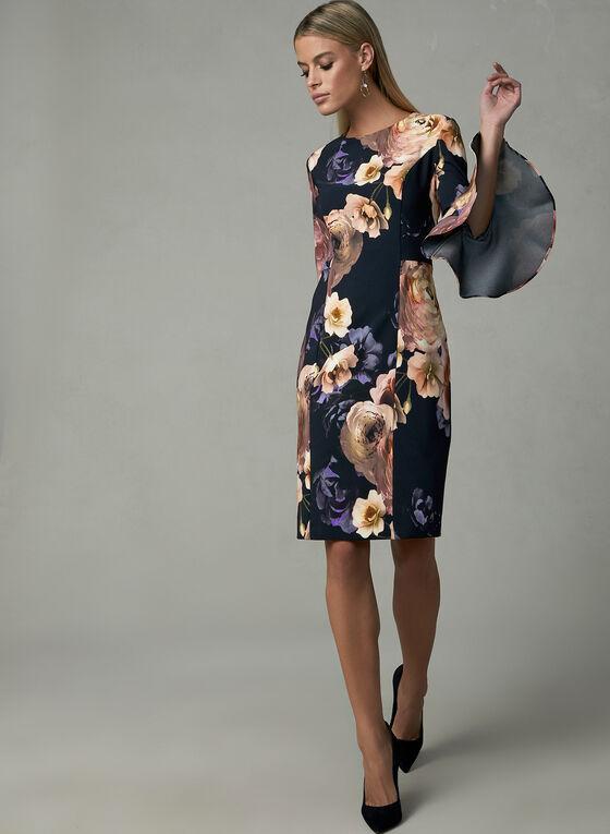 Joseph Ribkoff - Floral Print Dress, Black, hi-res