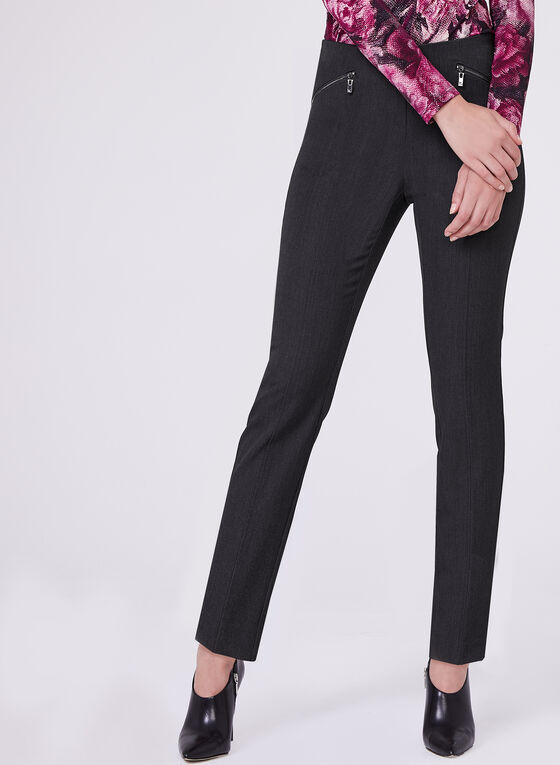 Amber Tailored Fit Slim Ankle Pants, Grey, hi-res