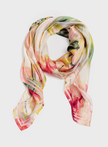 Vince Camuto - Watercolour Print Scarf, Red, hi-res