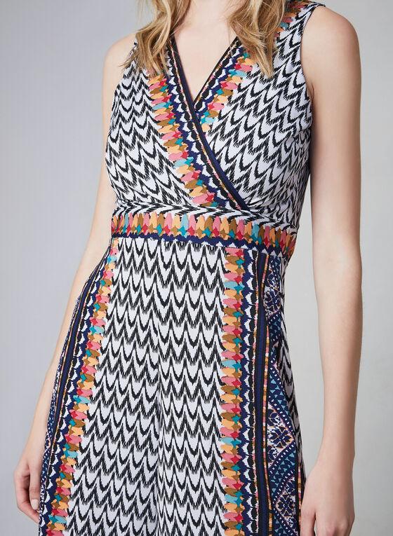 Aztec Print Jumpsuit, Black
