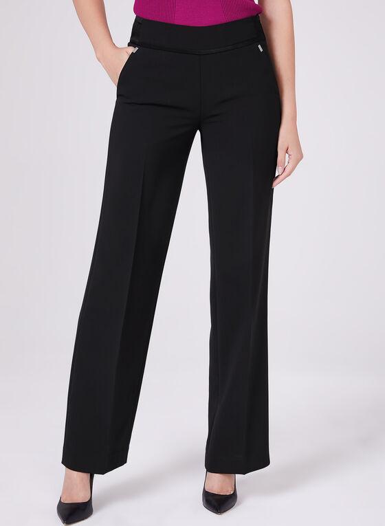 Pantalon Soho à jambe large et pinces , Noir, hi-res