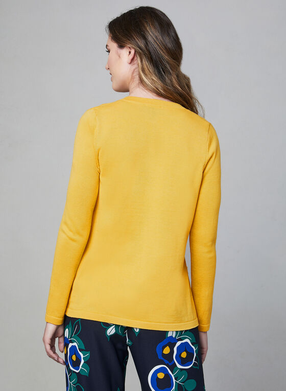 Alison Sheri - Open Front Knit Cardigan, Yellow, hi-res
