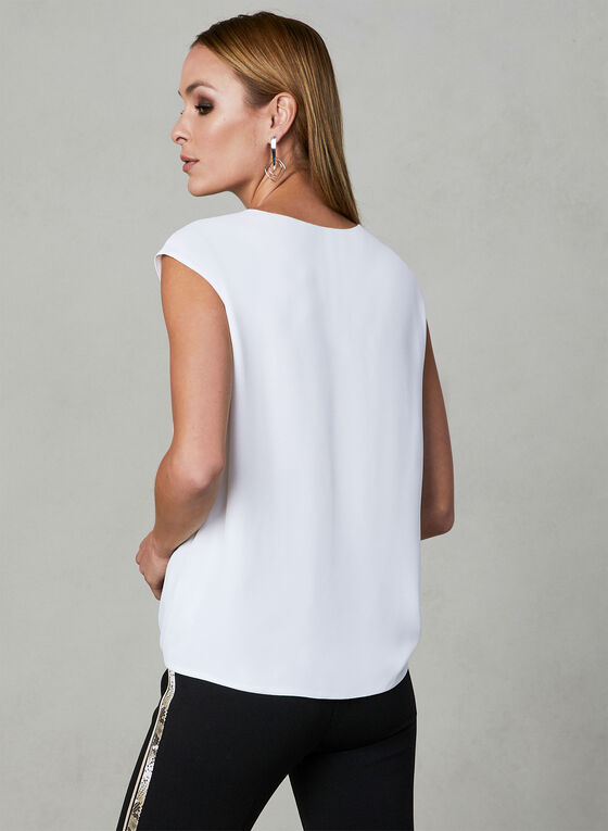 Tie Front Blouse, Off White