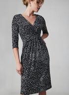 ¾ Sleeve Jersey Dress, Black, hi-res