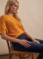 Knit Dolman Sleeve Top, Yellow