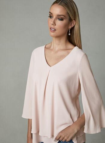 Frank Lyman - Chiffon Bell Sleeve Blouse, Pink, hi-res