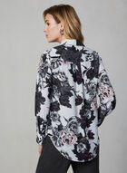 Floral Print Blouse, Purple