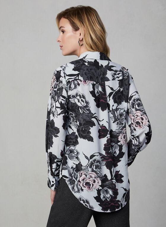 Floral Print Blouse, Purple