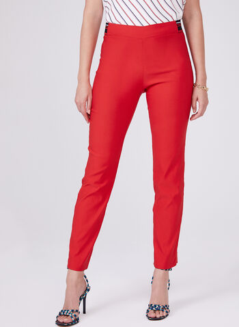 Conrad C - Slim Leg Pull-On Pants, Orange, hi-res