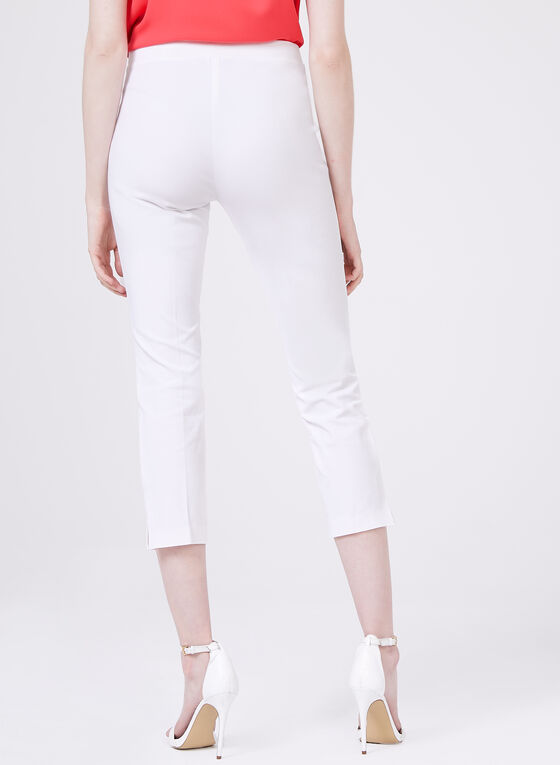 Conrad C - Pull-On Capri Pants, White, hi-res