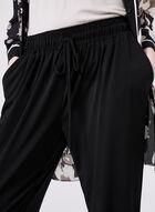 Ariella - Pantalon jambe étroite à cordons de serrage, Noir, hi-res