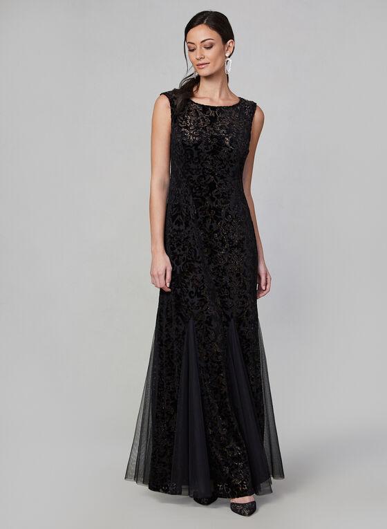 Alex Evenings - Velvet Burnout Evening Dress, Black