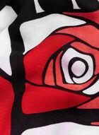 Foulard de roses géométriques, Rouge, hi-res