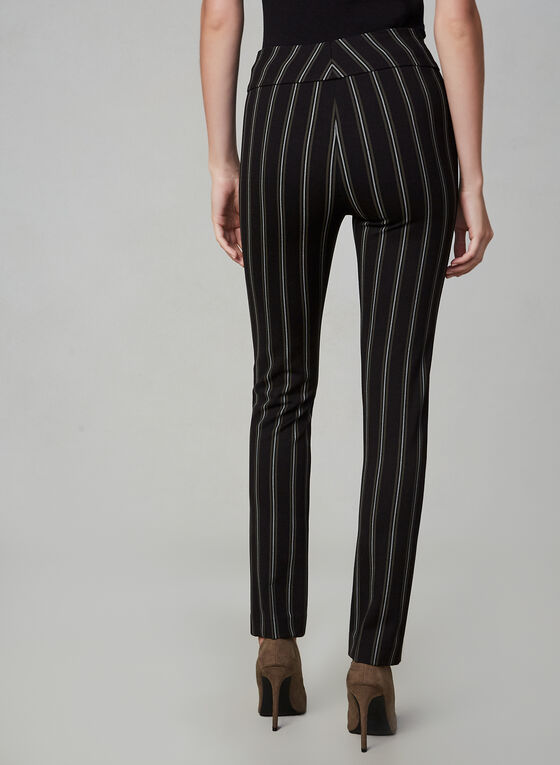 Pantalon Madison à rayures, Noir