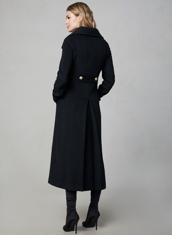Karl Lagerfeld Paris - Manteau long d'inspiration militaire, Noir