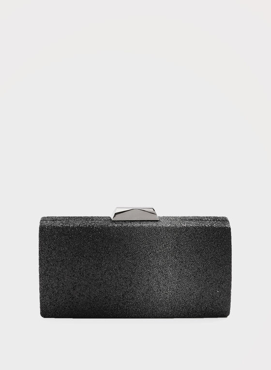 Caviar Bead Box Clutch, Black, hi-res