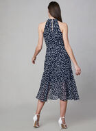 Sandra Darren - Polka Dot Print Dress, Blue, hi-res