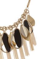 Collier à pendentifs géométriques et chaînettes, Or, hi-res