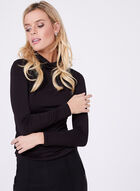 Vex -  Cotton Blend Funnel Neck Top, Black, hi-res