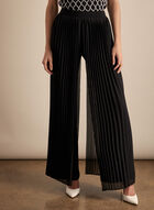 Frank Lyman - Pleated Wide Leg Pants, Black