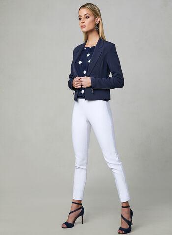 Vex - Blazer à détails zippés, Bleu, hi-res