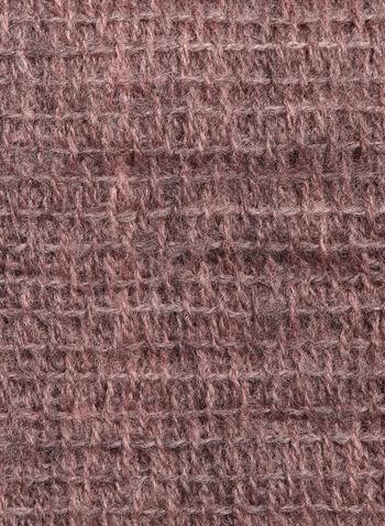 Fringe Knit Scarf , Pink, hi-res