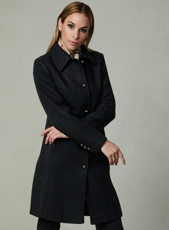 Novelti - Wool Blend Coat, Black, hi-res