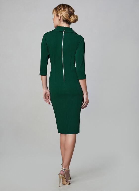 Maggy London - Robe cache-coeur plissée, Vert