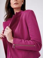 Veste ouverte à col tailleur et détails zippés, Violet, hi-res