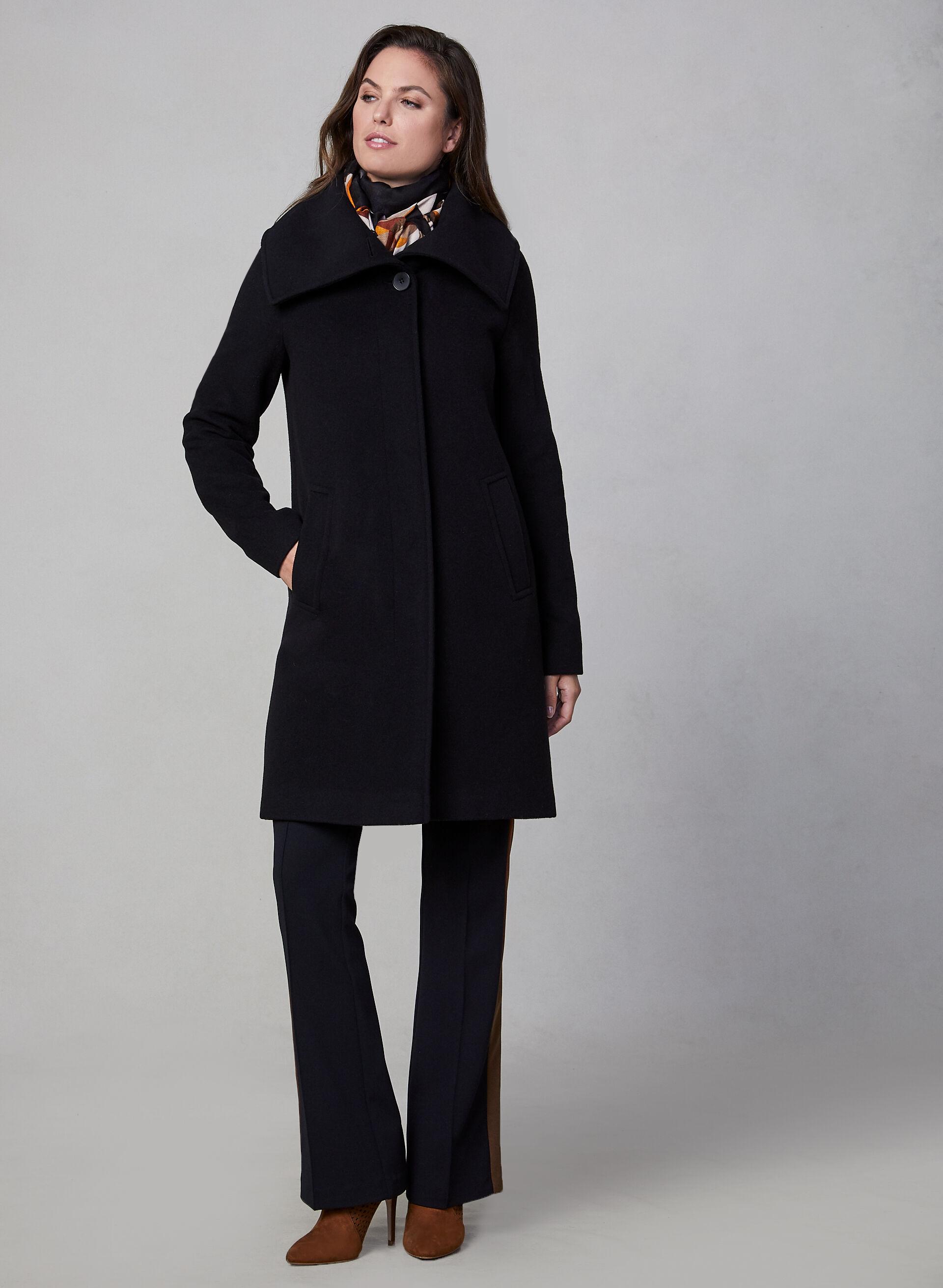 Manteau caban femme noir