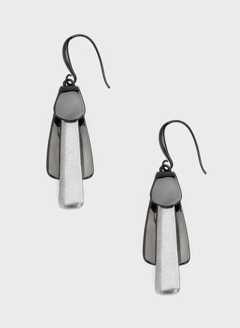 Robert Lee Morris - Boucles d'oreilles bi-ton à pendants géométriques, Gris, hi-res