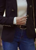 Button Detail Blazer, Black