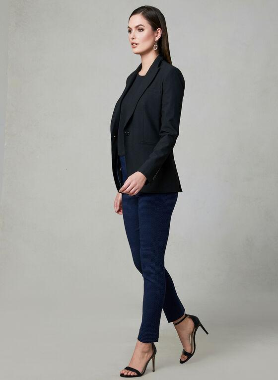 Jacquard Slim Leg Pants, Blue