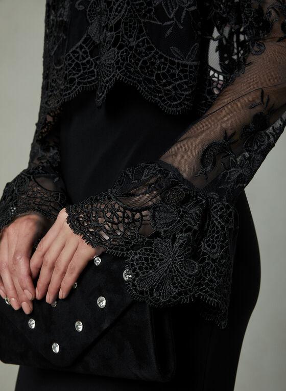 Joseph Ribkoff - Robe à dentelle florale, Noir, hi-res