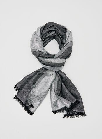 Calvin Klein - Foulard léger pailleté, Argent, hi-res