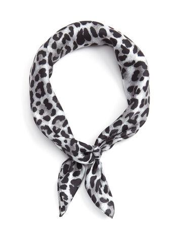Leopard Print Silk Neckerchief, , hi-res