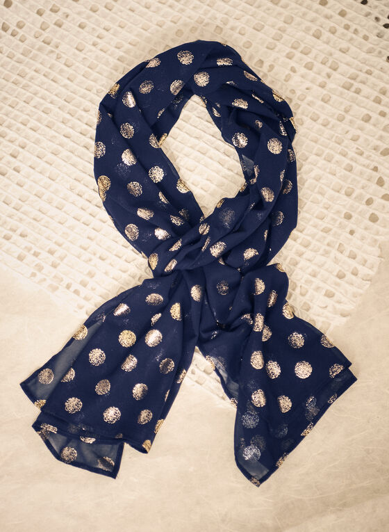Glitter Polka Dot Evening Wrap, Blue