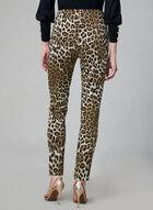 Pantalon léopard à jambe étroite, Noir, hi-res