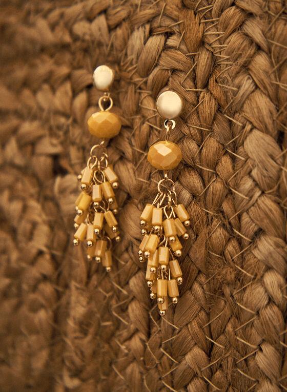 Boucles d'oreilles pendantes à grappe de perles, Or