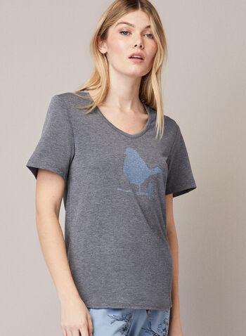 Ensemble pyjama à imprimé, Bleu,  automne hiver 2020, pyjama, ensemble