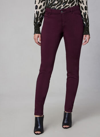 Sculpting Slim Leg Jeans, Purple, hi-res,  jeans, sculpting, slim legs, colour, fall 2019, winter 2019