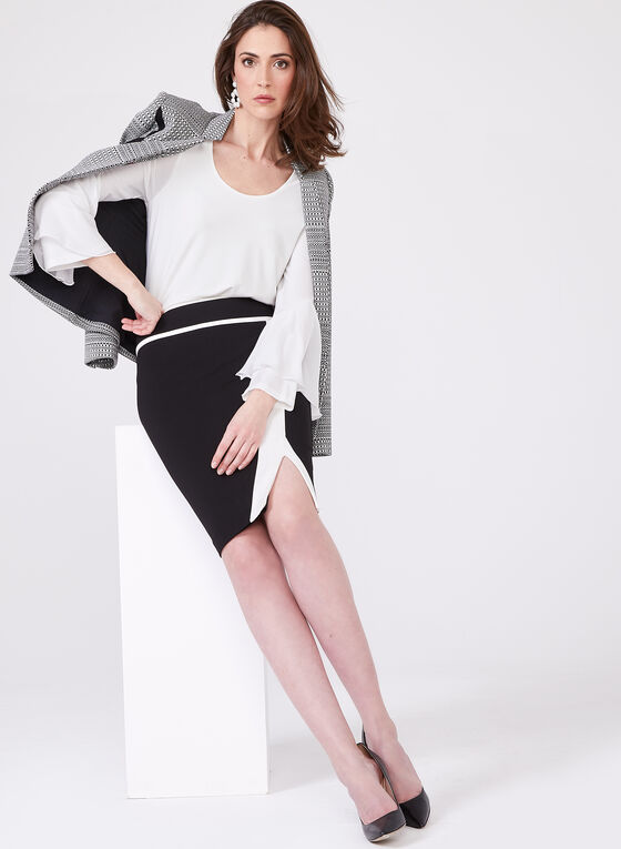 Long Bell Sleeve Layered Top, Off White, hi-res