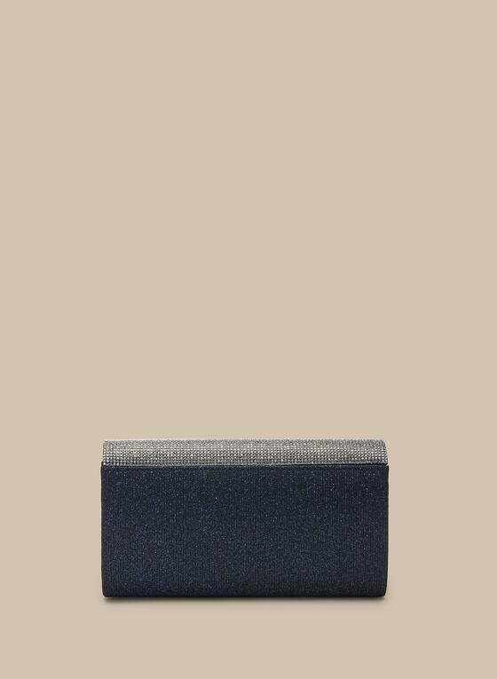 Crystal Envelope Clutch, Blue