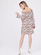 Maggy London - Off The Shoulder Belted Dress, Multi, hi-res